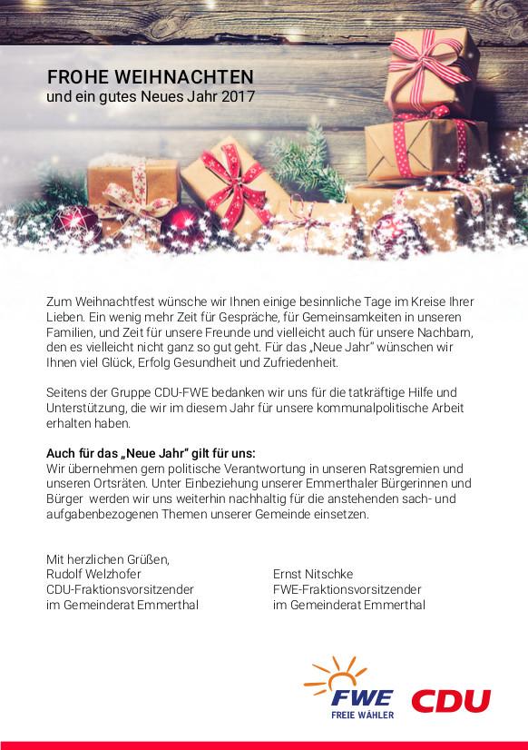 Wir sagen: DANKE und frohe Weihnachten!